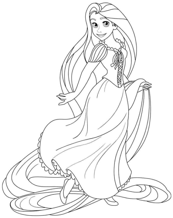 Tangled Is A Por Walt Disney Animated That Was Made On Fairytale Of Princess Coloring Pagesdisney