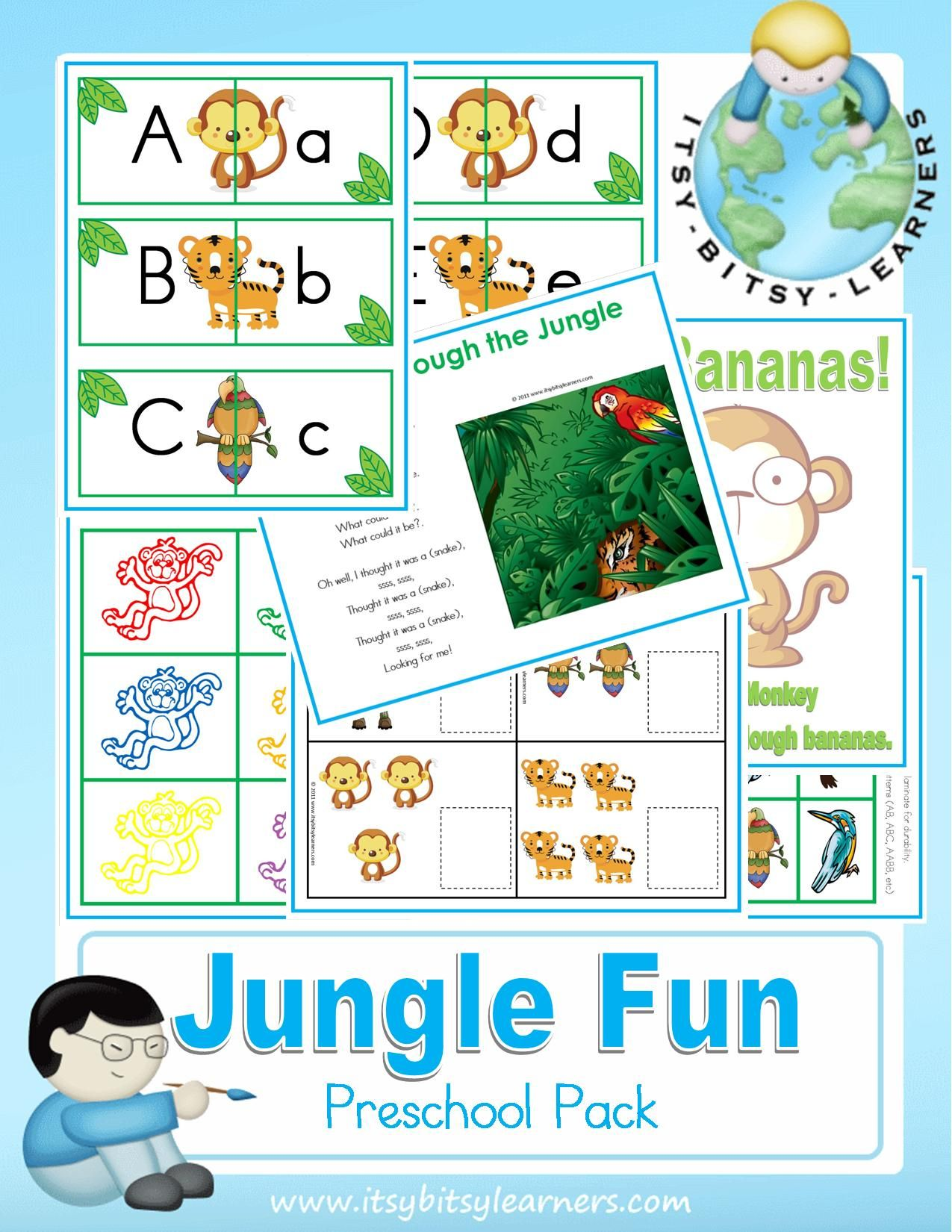 Safari Coloring Page Animals Worksheets And Kindergarten Safari Best Free Printable Worksheets