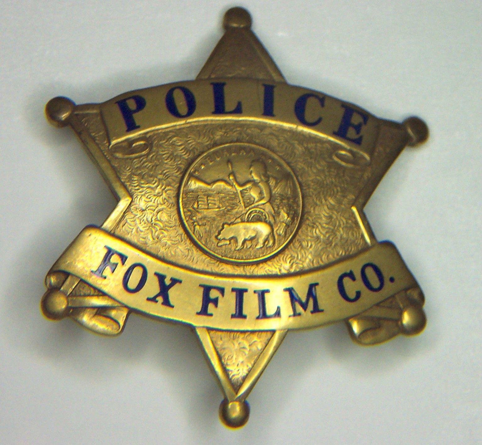 FOX FILM CO. Hollywood Movie STUDIO Vintage 30's POLICE