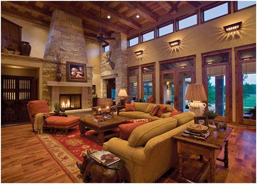 Lodge Style Resort Lobby Modern Rustic Seating Area