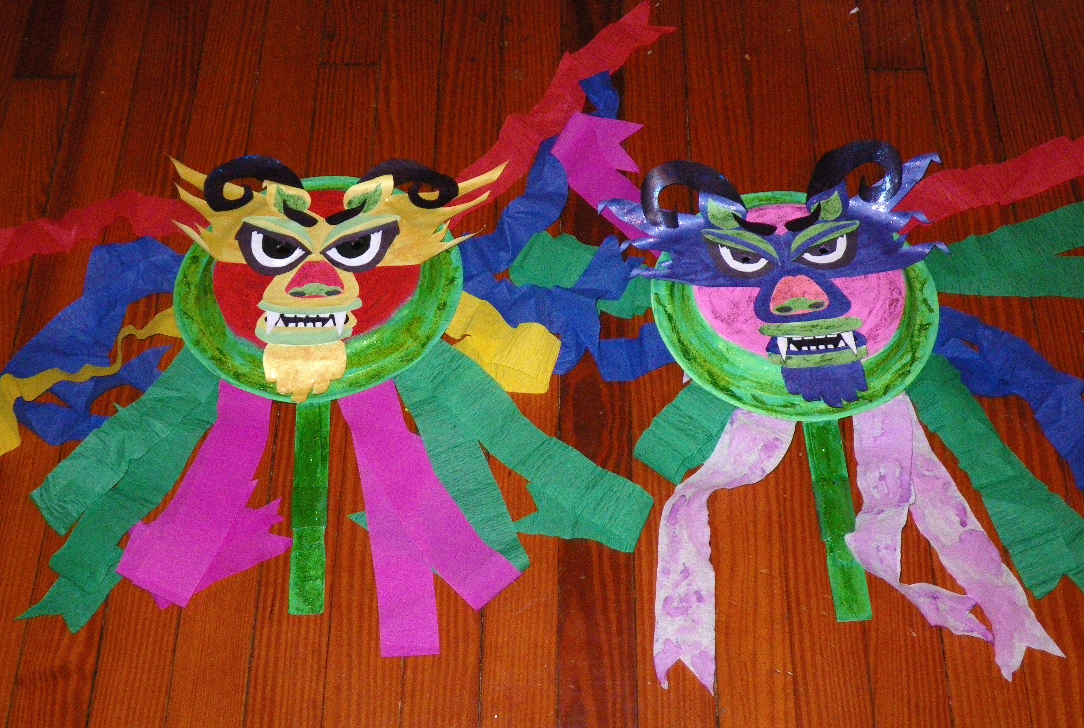 Chinese New Year Dragon Masks I Got The Pattern For These