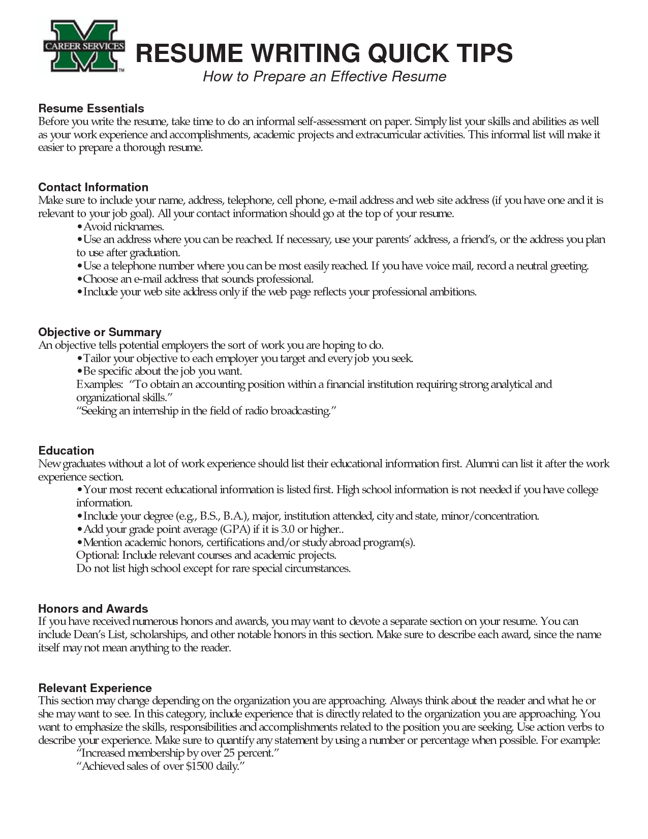 Tips Effective Resume Writing LoseyourloveWriting A Resume