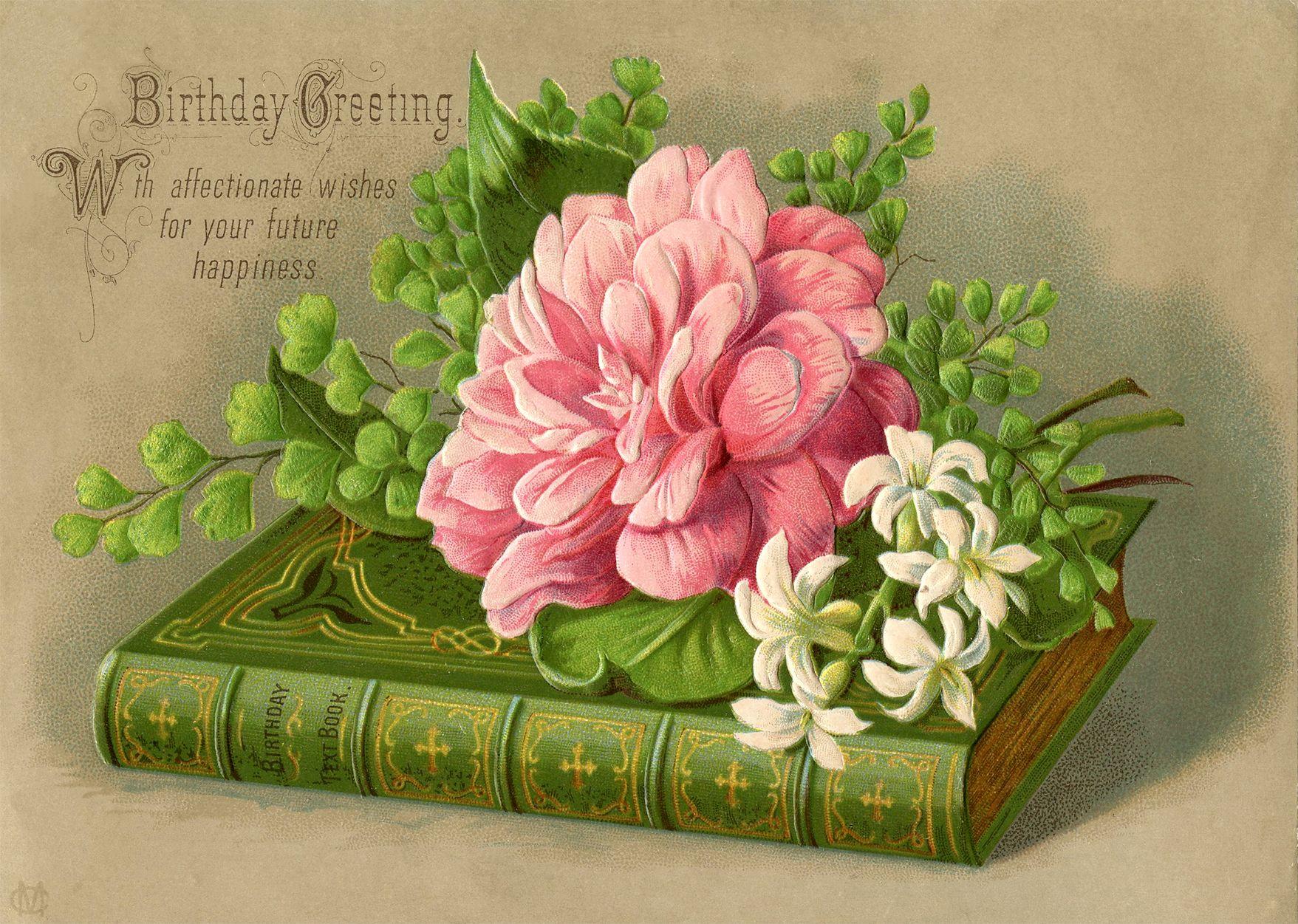 Vintage flower birthday card Google Search Christian
