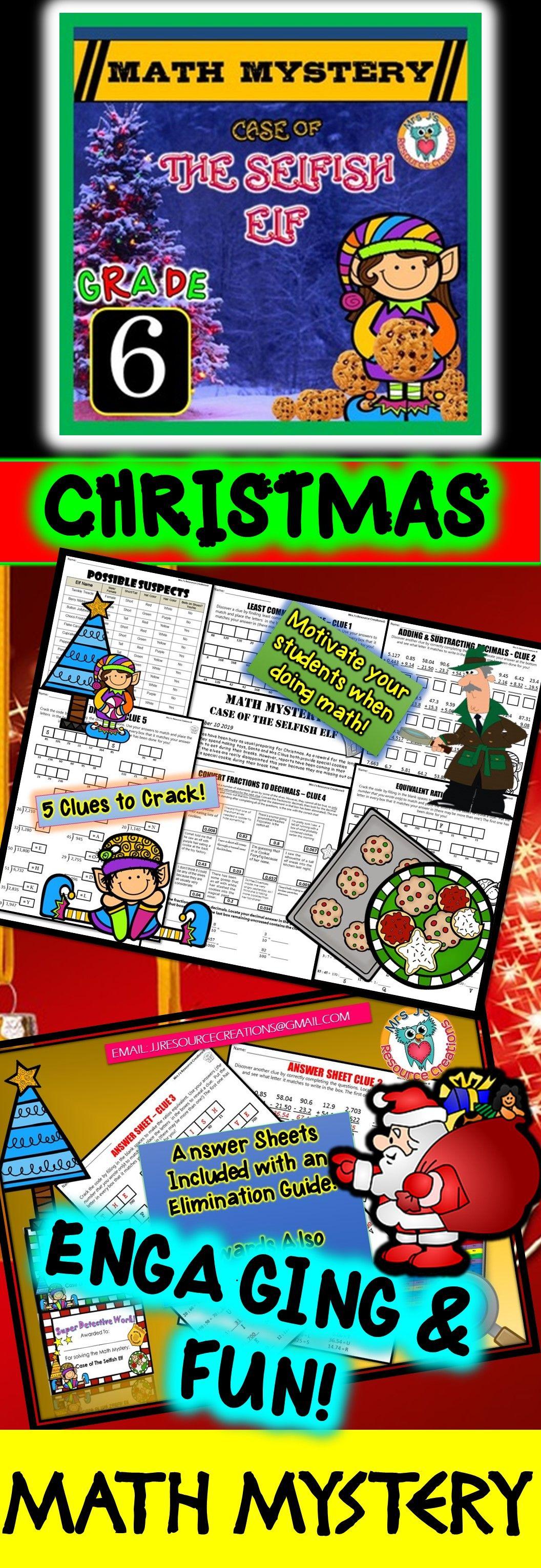 Christmas Math Challenge 3c Answers