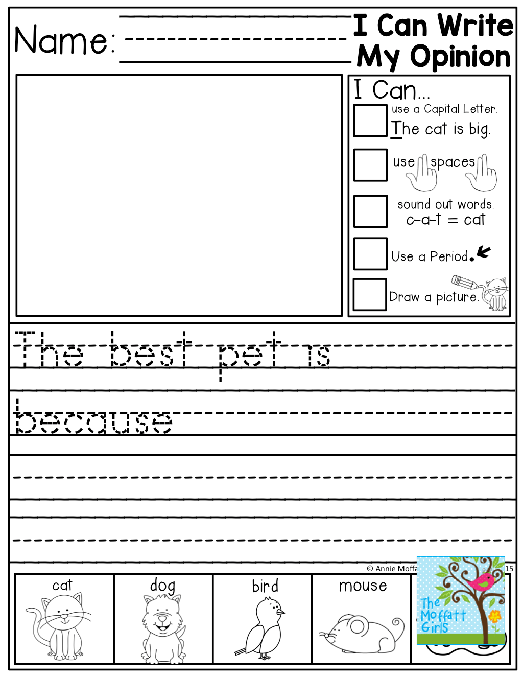 Opinion Worksheet Kindergarten