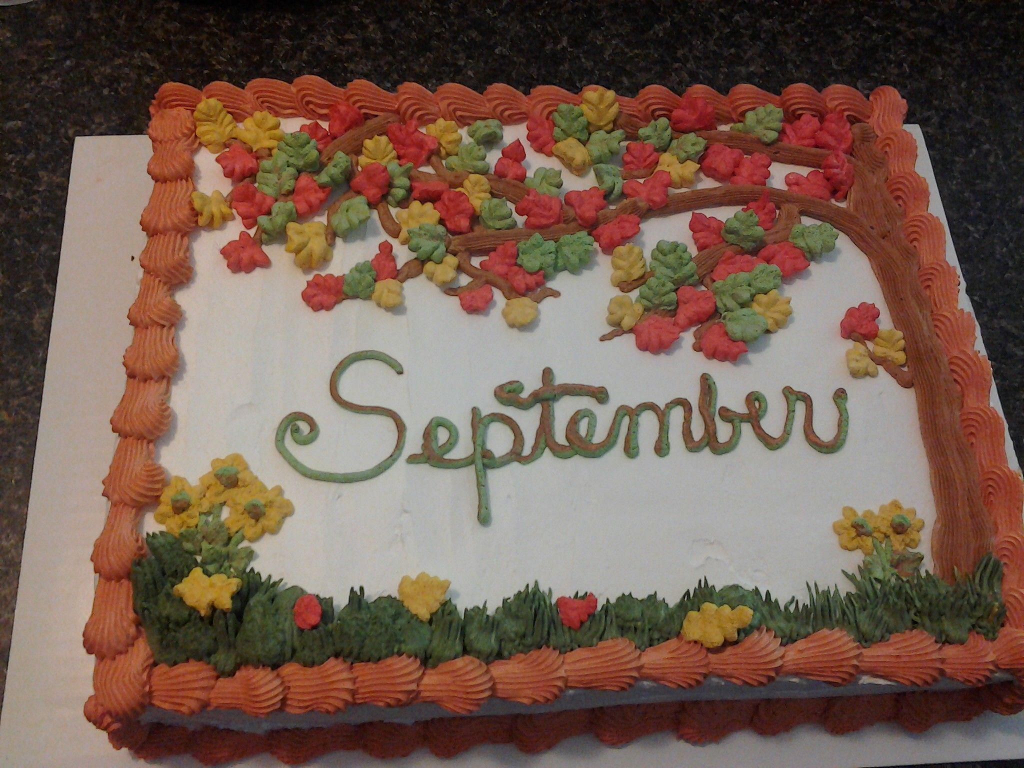 Chocolate Cake With Whipped Icing For September B Days