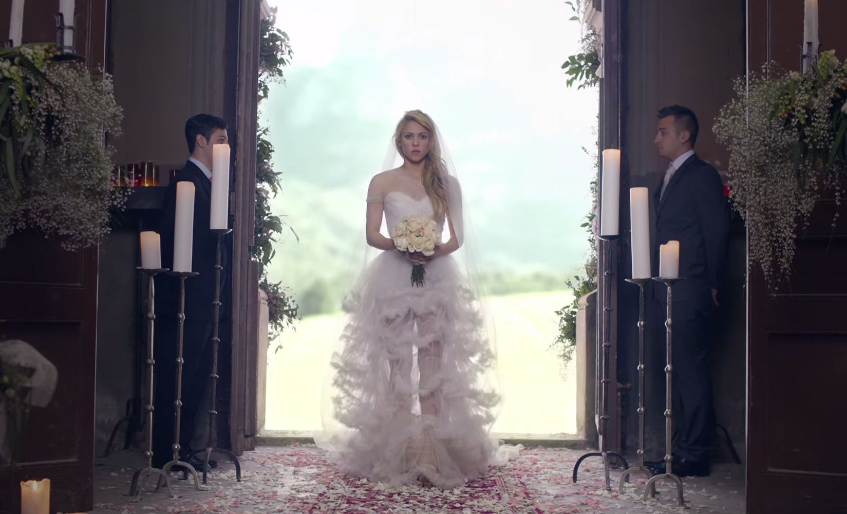 Shakira's Wedding Dress In Empire Video.