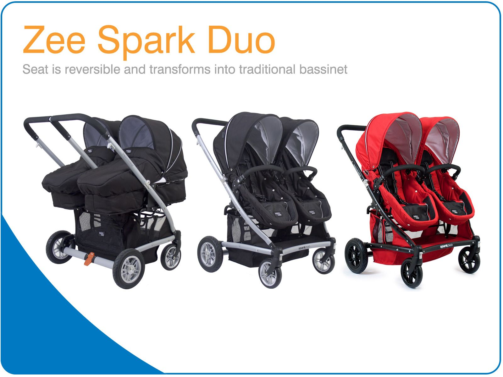 Zee Spark Duo. The newest and most innovative seat in the