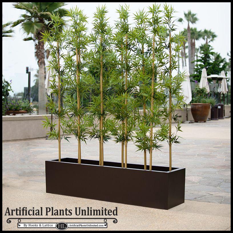 6'L Bamboo Outdoor Artificial Grove in Modern Fiberglass