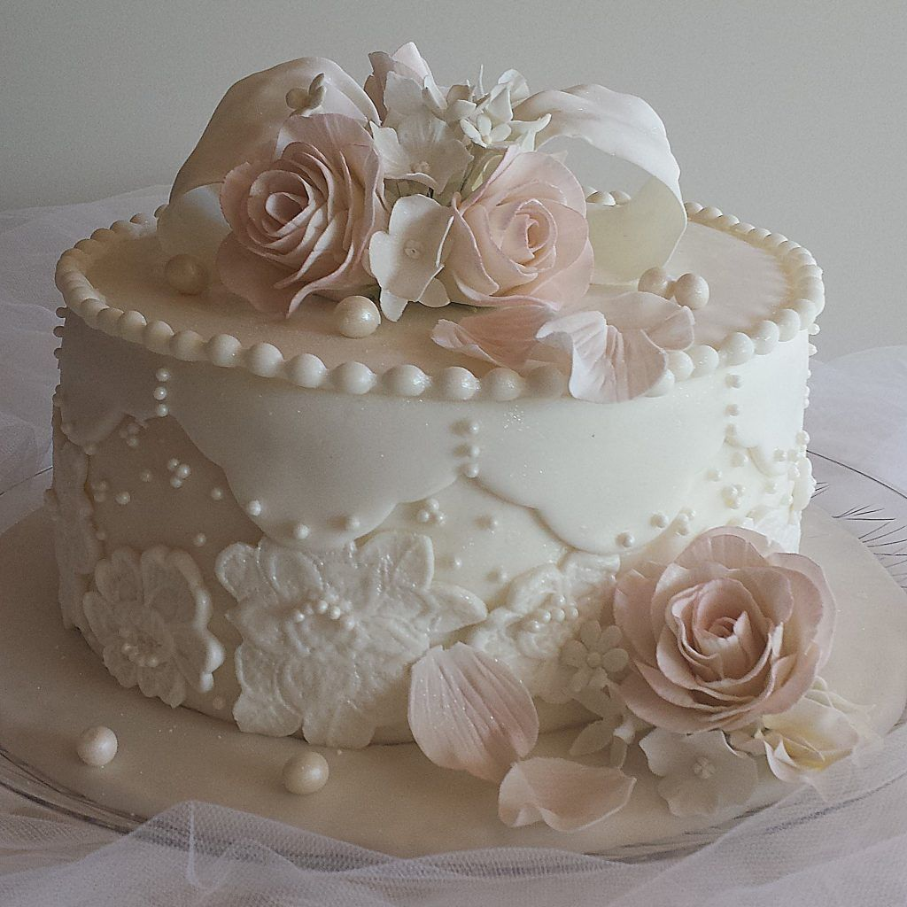 Little Wedding Cakes, One Tier Wedding Cakes, Simple