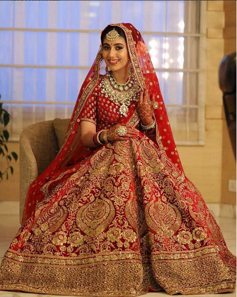 Red Bridal Lehenga By Sabyasachi Bridal Lehenga Of 2017