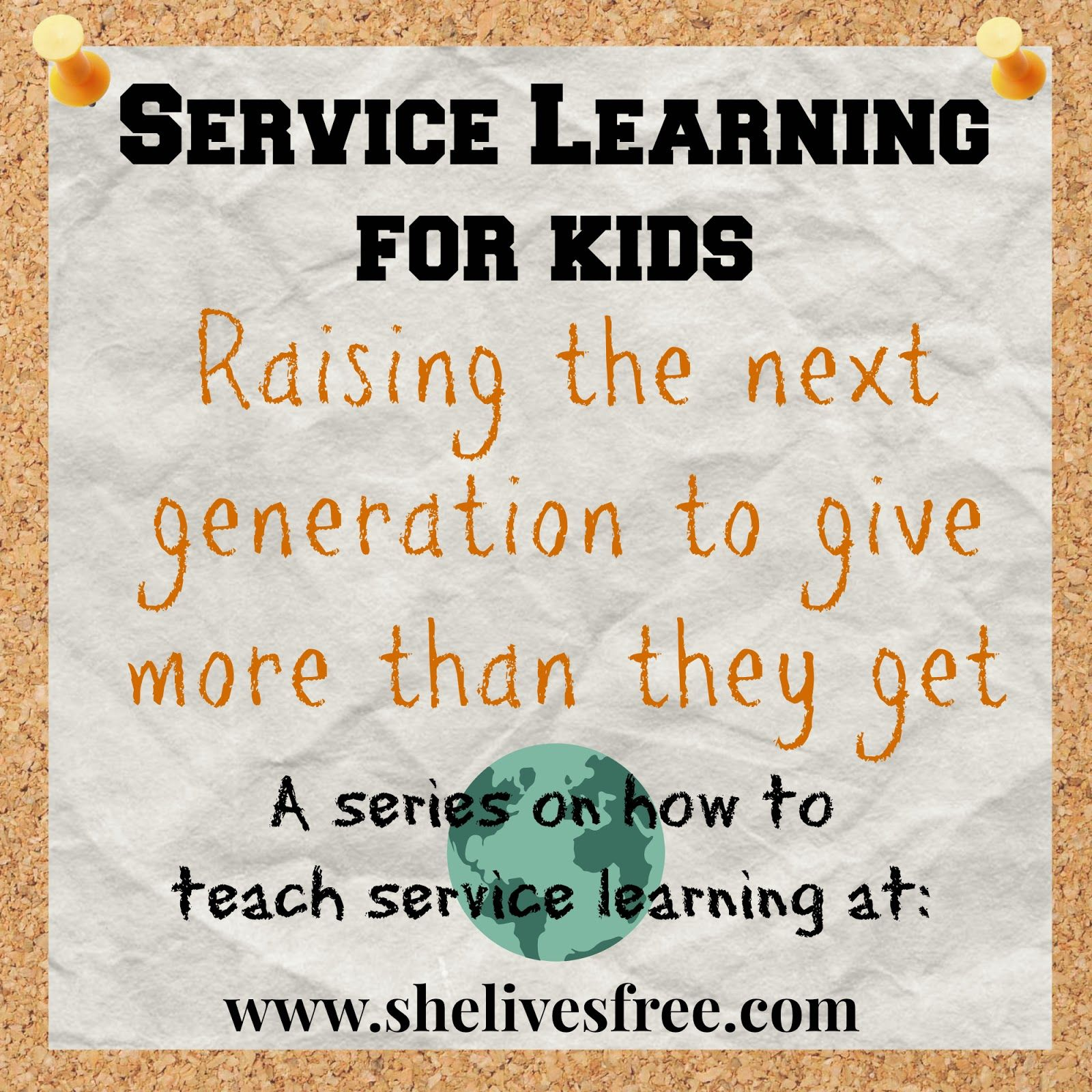 Service Learning for Kids from She Lives Free Make a