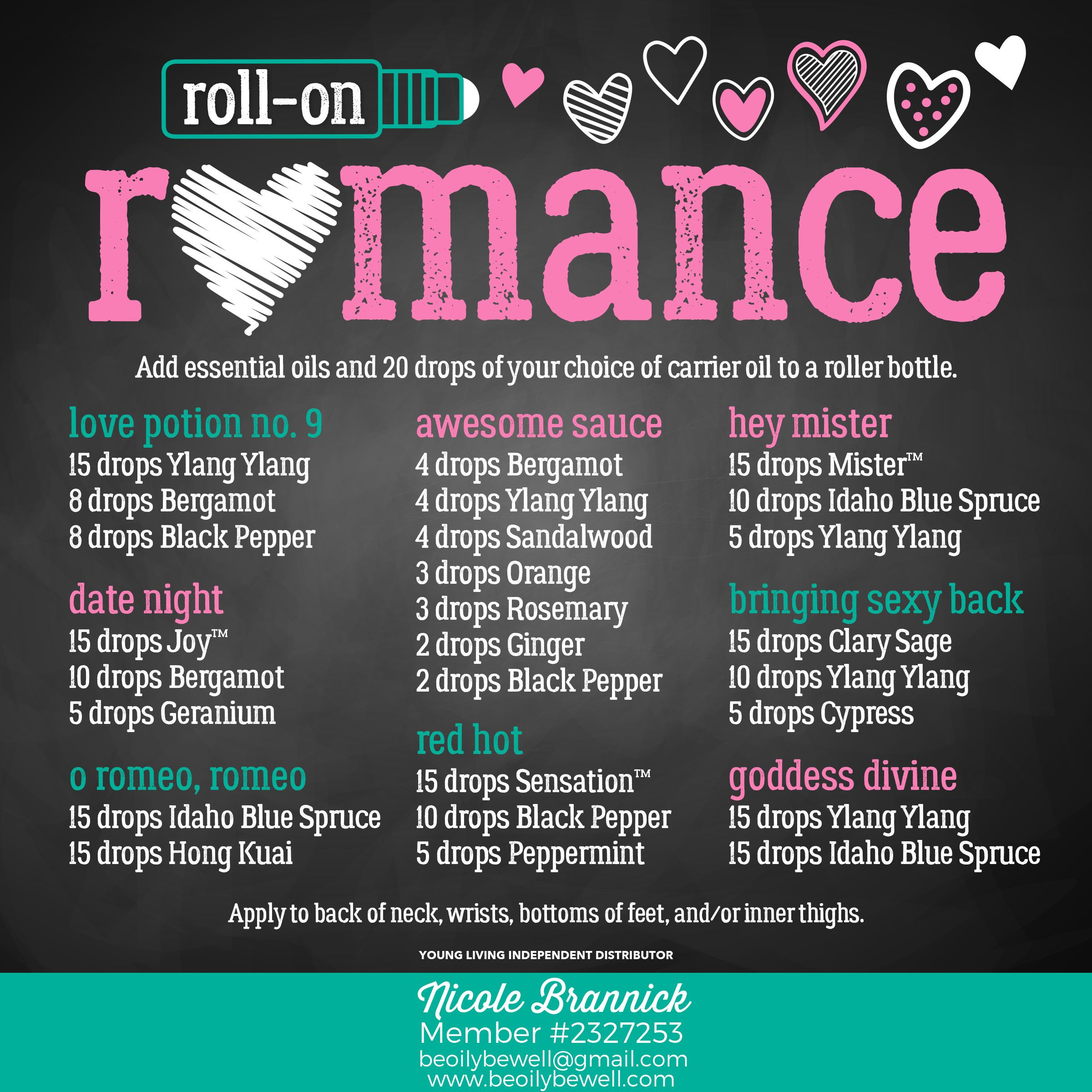 Roll On Romance Recipes Young Living Essential Oils