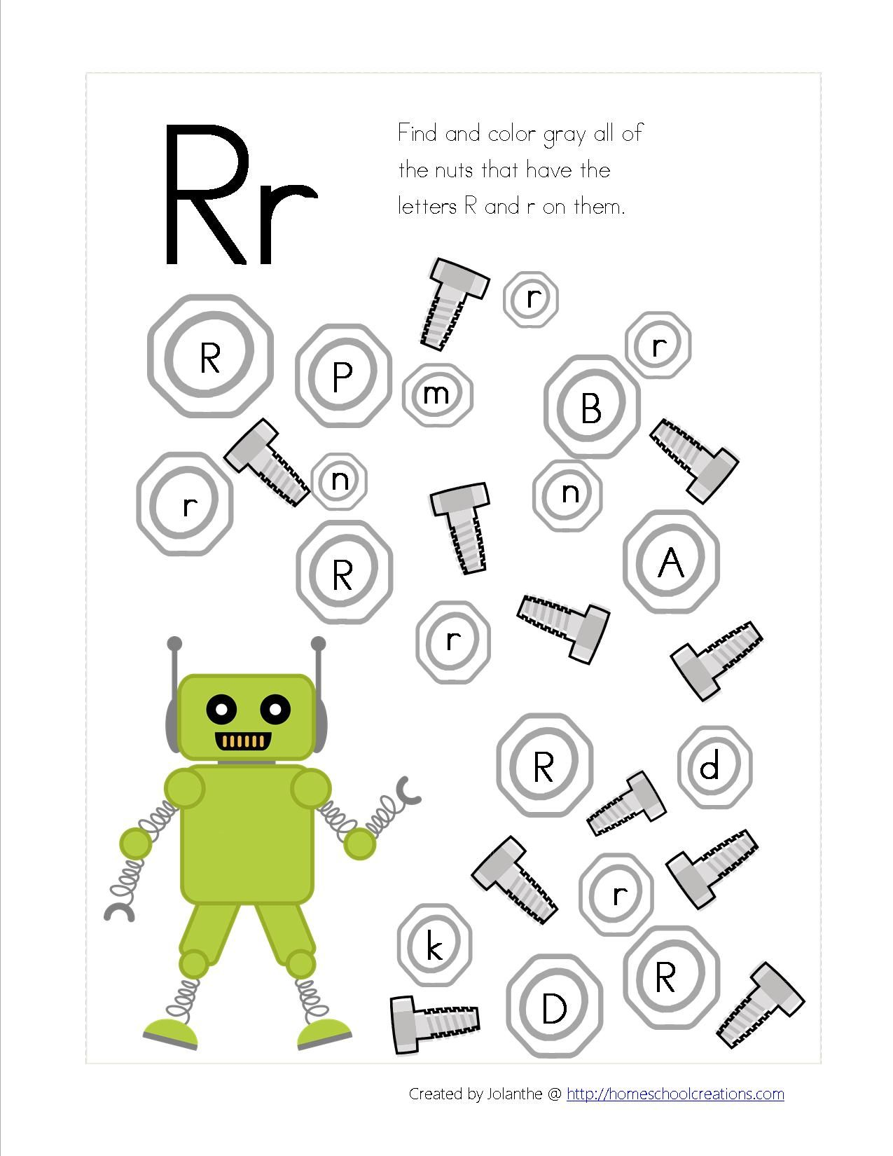 Zoek De R Of R Van Robot