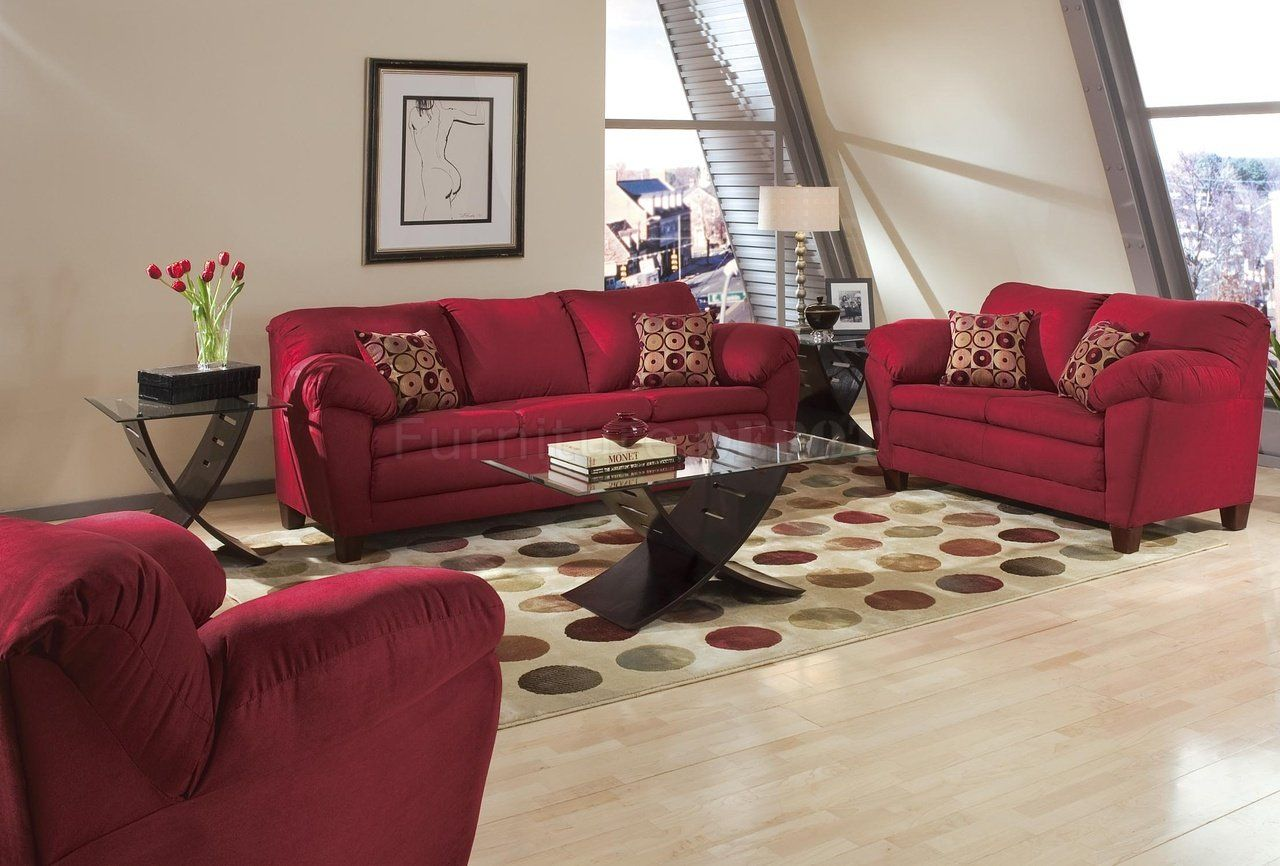 Living Rooms With Bugundy Sofas