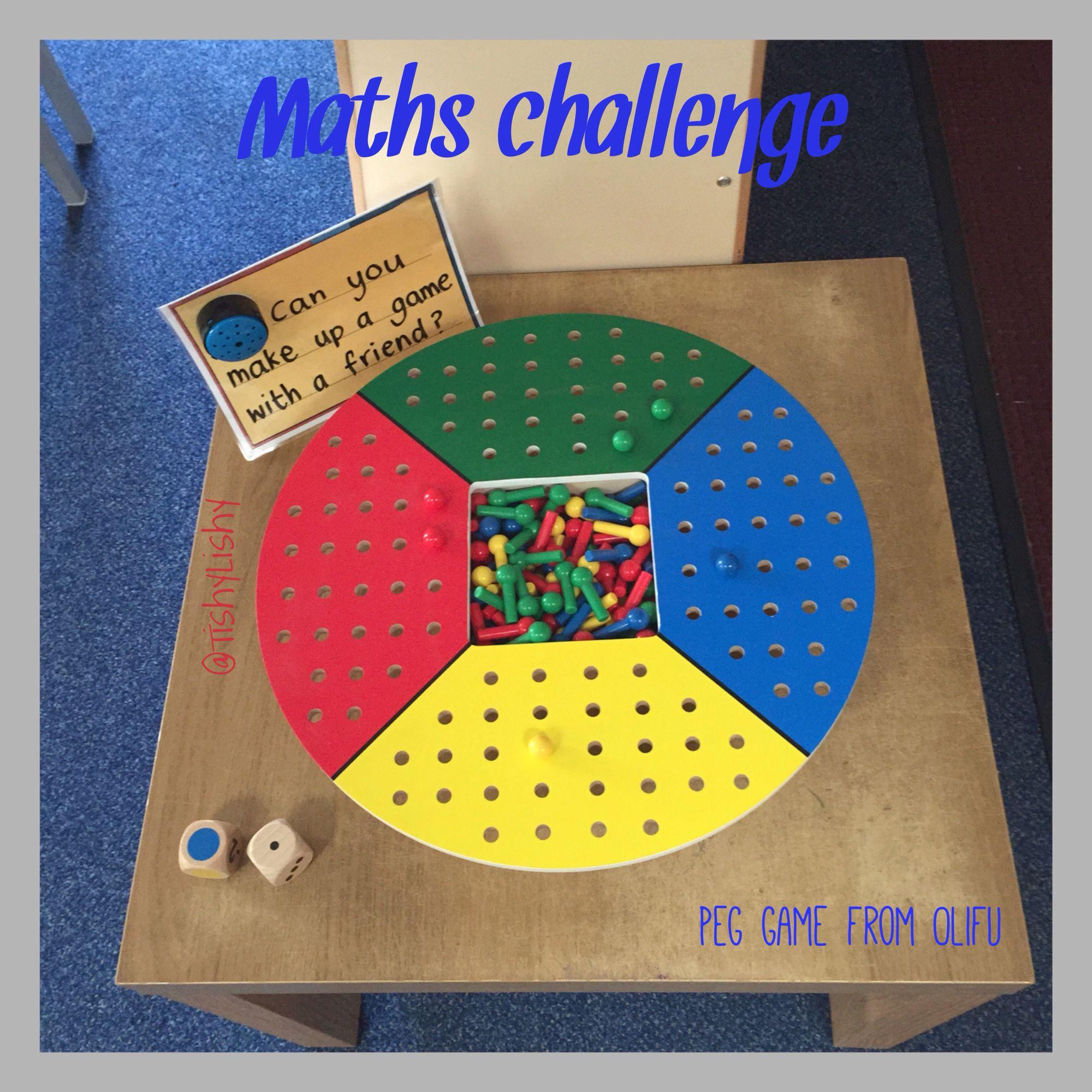 Maths Challenge Using Felix Peg Board From Olifu