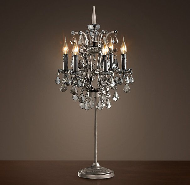 19th C Rococo Iron Crystal Table Lamp Smoke This Is Definitely Going On