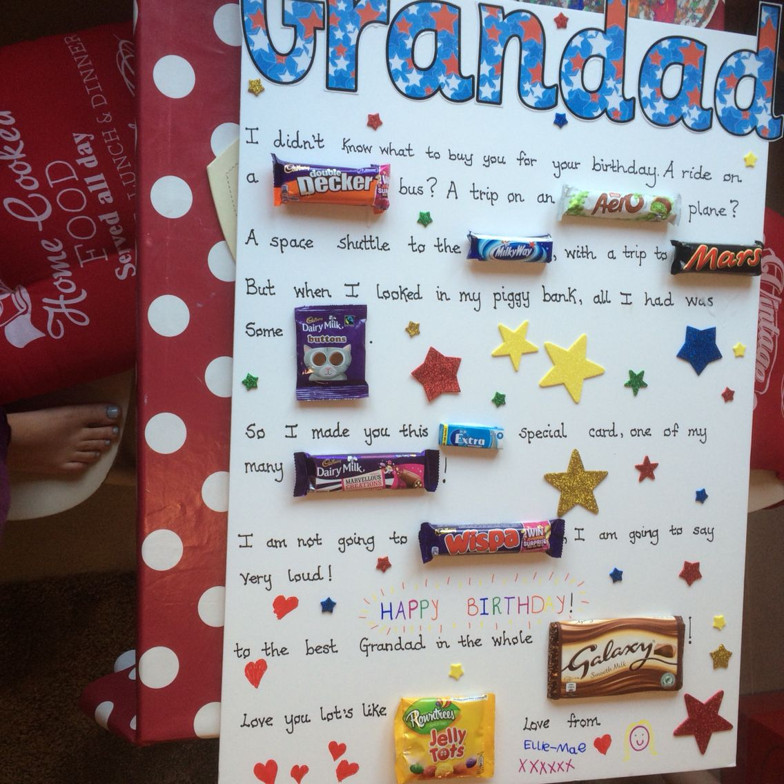 Grandad diy chocolate birthday card Cards Pinterest