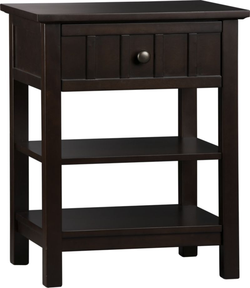 brighton coffee nightstand | crate and barrel - add a sink to a