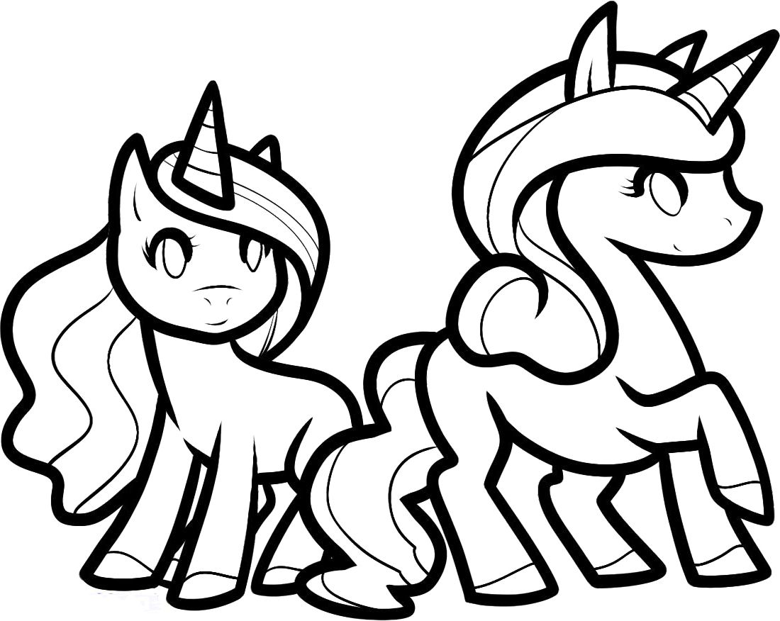 Free coloring pages of unicorn and rainbow printable