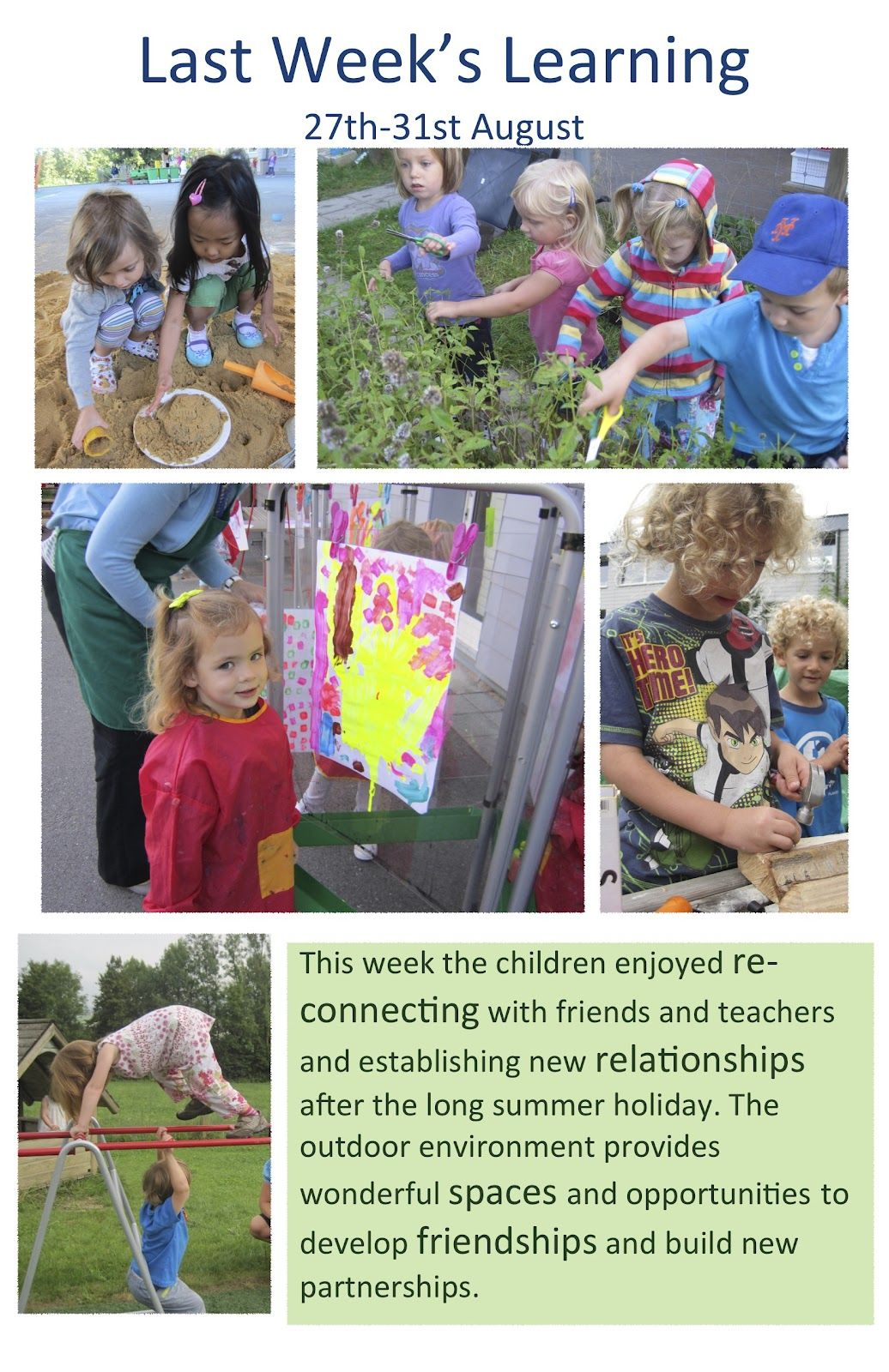 Documentation About Outdoor Learning