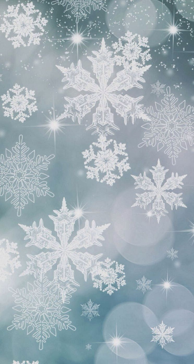 Snowflake Pattern Background Iphone 5s Parallax Wallpaper