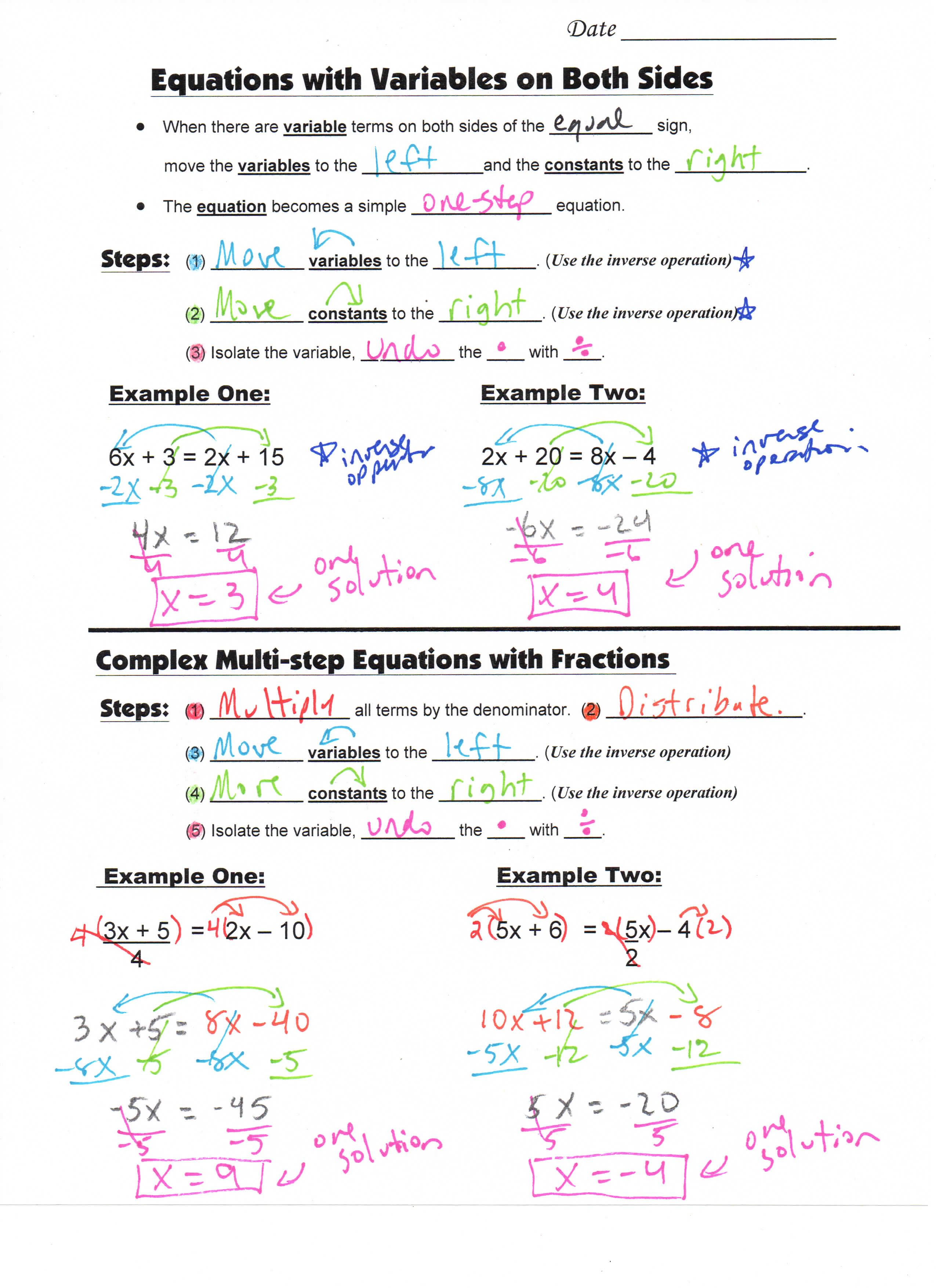 S Teacherspayteachers Product Math 8 Guided Interactive Math Notebook Page