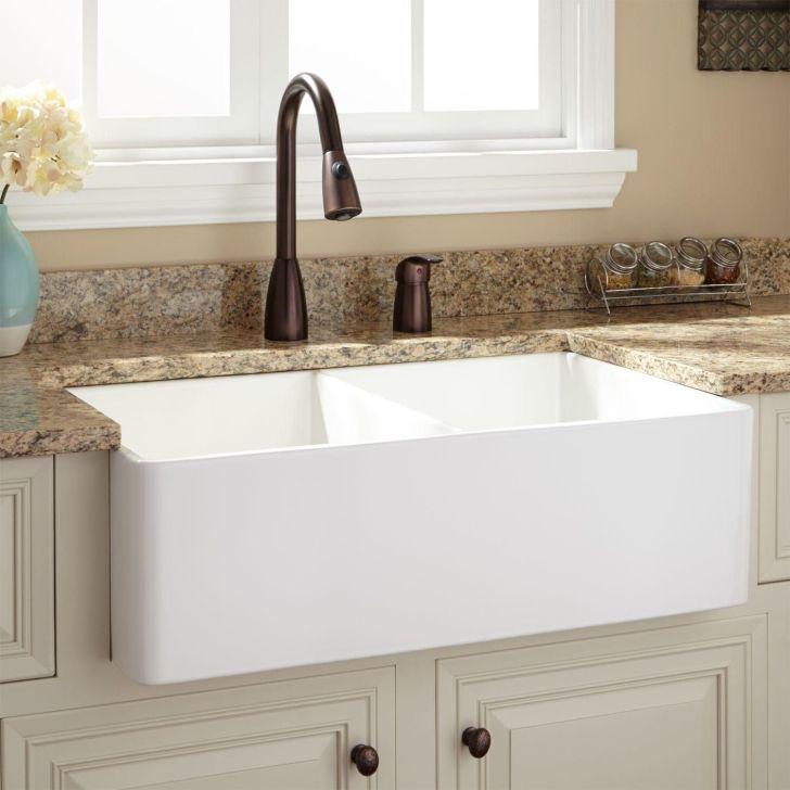 Farmhouse Sink Kitchen Fireclay White