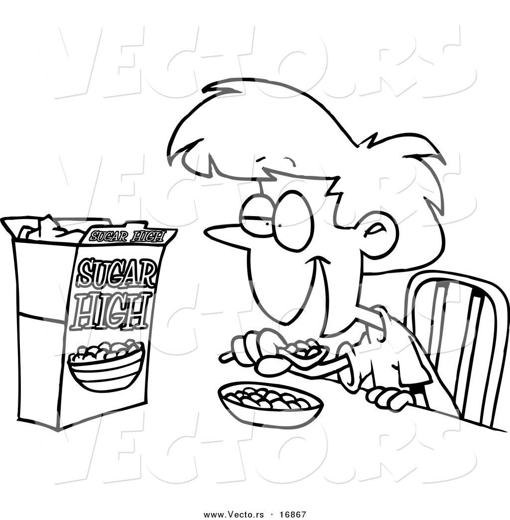 Drawings Of Kids Eating Breakfast
