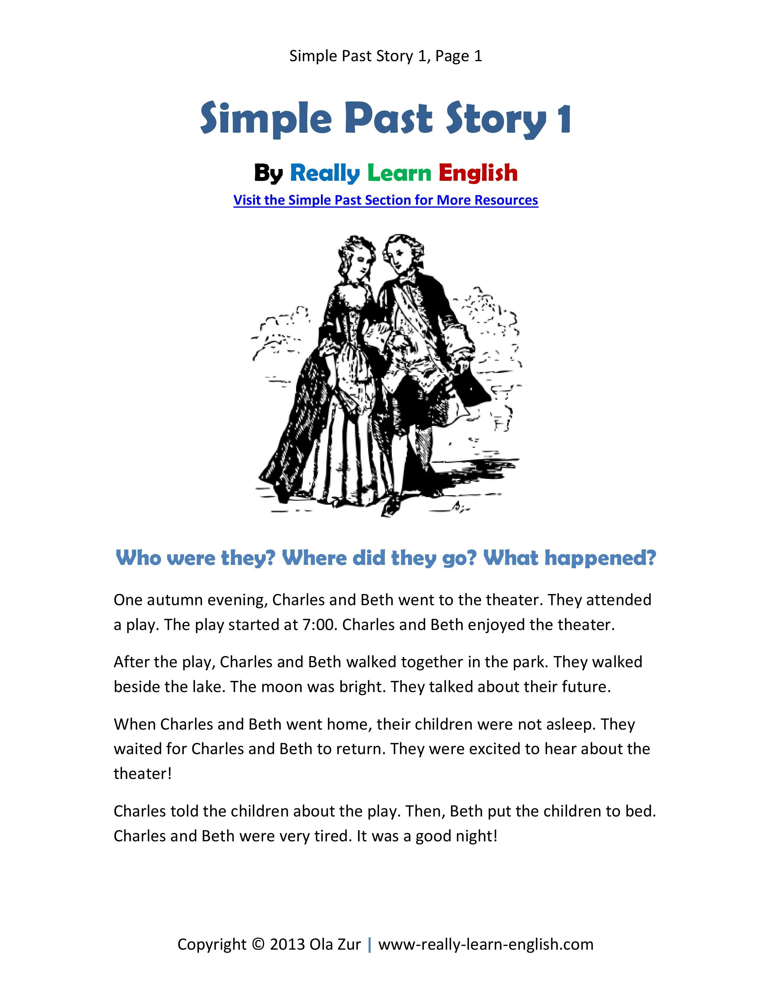 Free Printable Short Story Worksheets And Answer Key