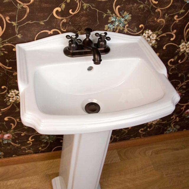 Halden Porcelain Pedestal Sink