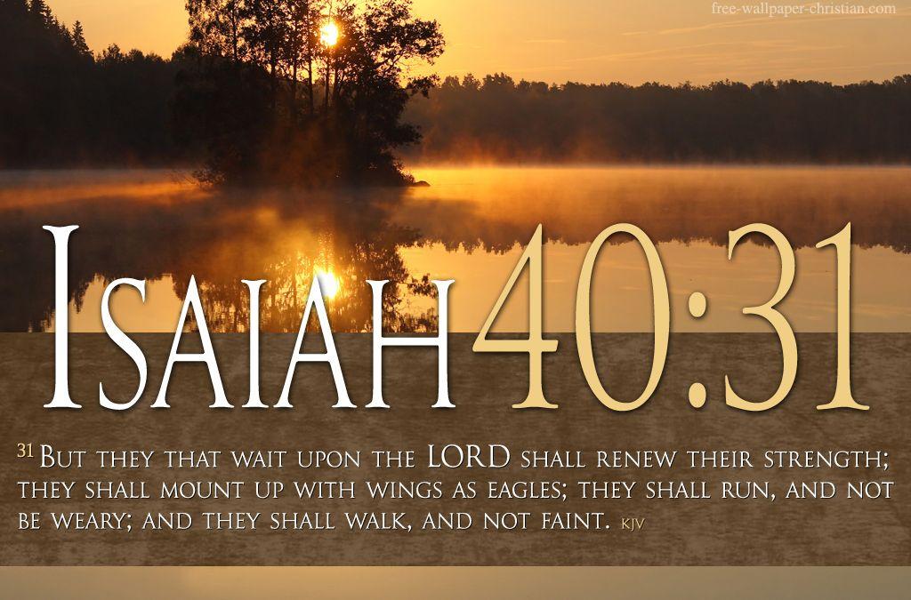 Faith scripture bible verses on faith isaiah 4031 river