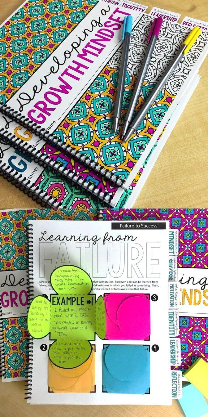 Growth Mindset Portfolio for Teens Interactive Notebook