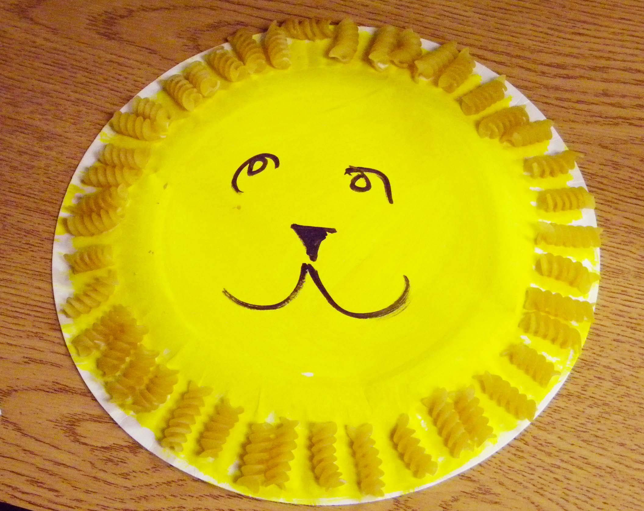 A Macaroni Lion Art Project For A Preschool Early Intervention Zoo Unit