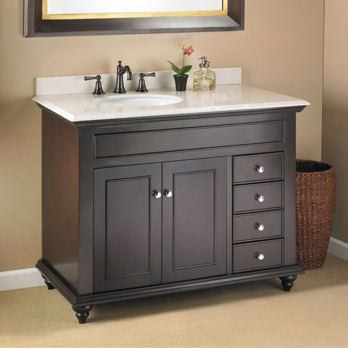 "mayfield 42"" single sink vanity by mission hills® 