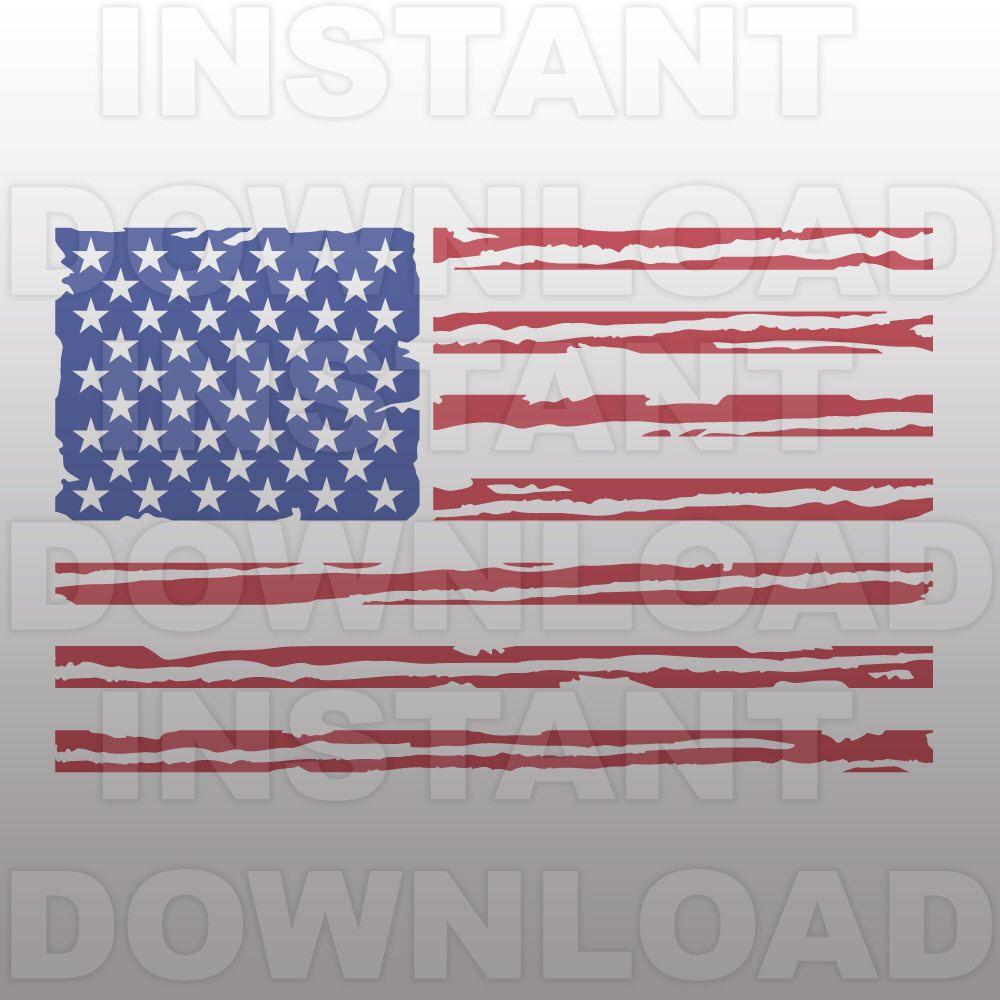 Distressed American Flag SVG,USA Flag SVG FileCutting