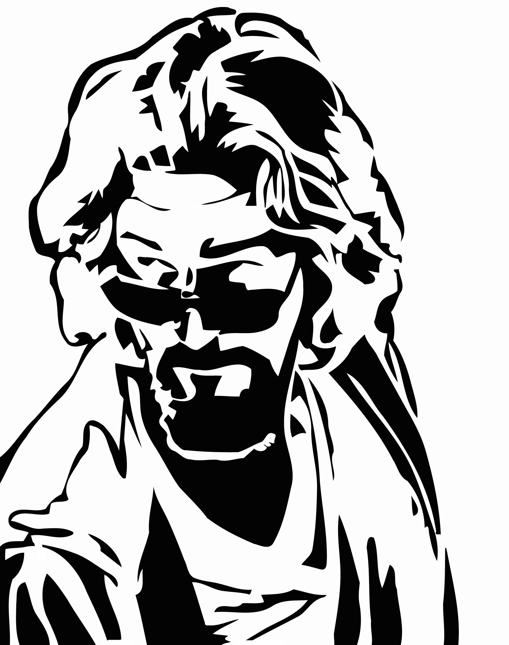 Big Lebowski Dude Stencil Tshirt Silk Screen Template