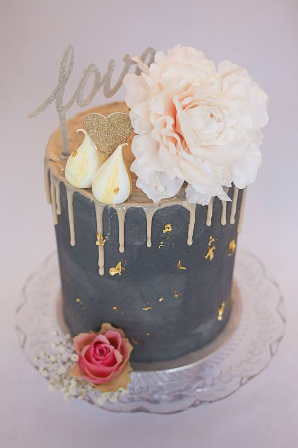 Image result for lavish drip cake ivory