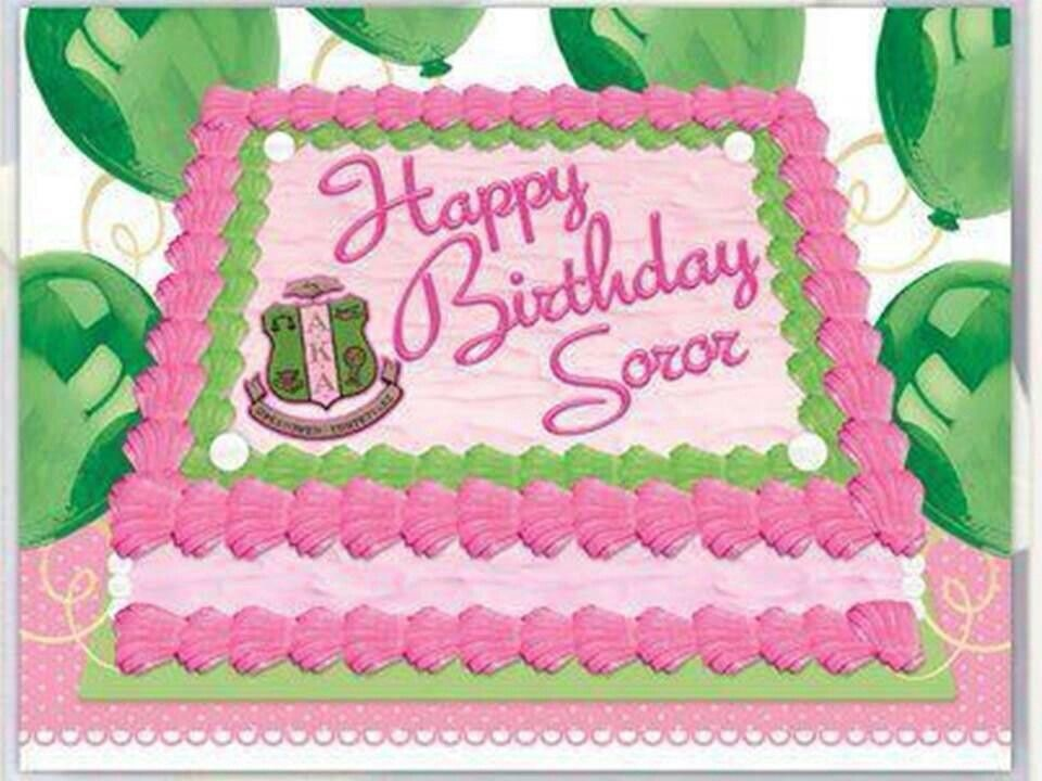Happy Birthday Soror Pink Amp Green 1908 Pinterest