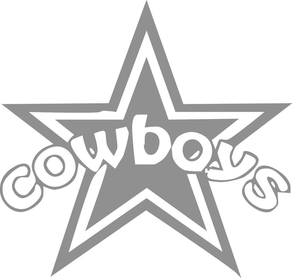 Dallas Cowboy Star Vinyl Decal Measures Approximately 7 X