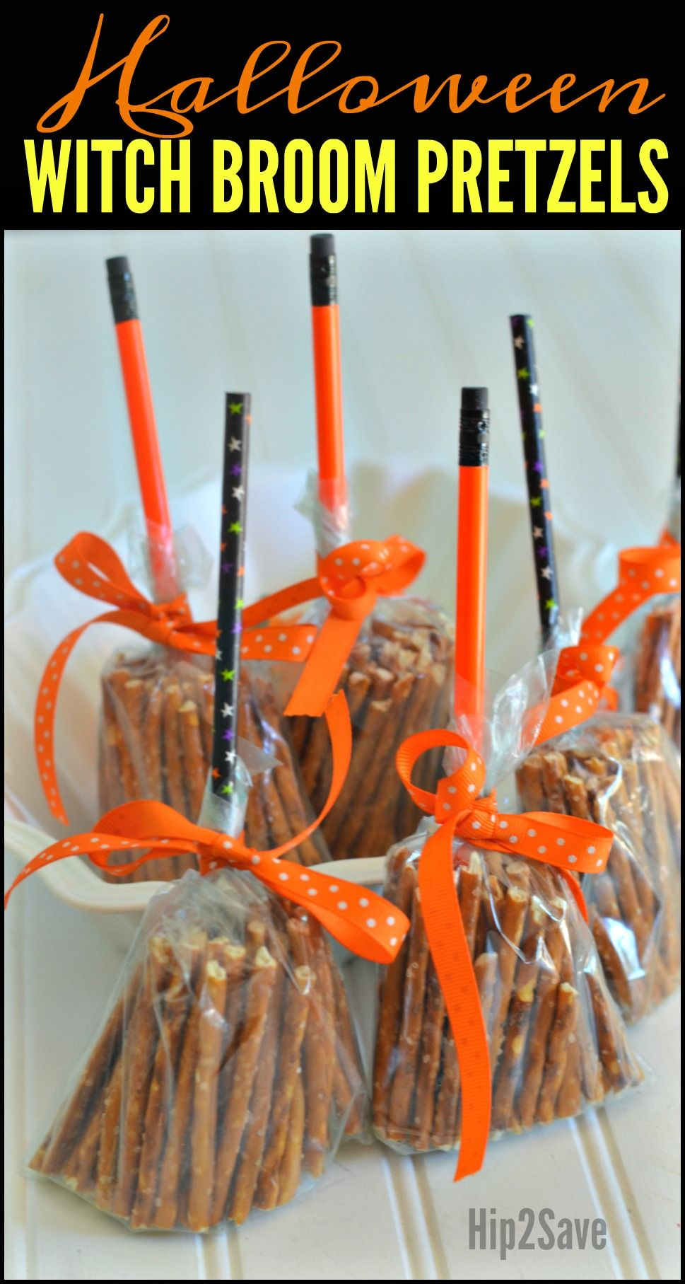 Create these CUTE Broomsticks from Pretzels (Easy Non