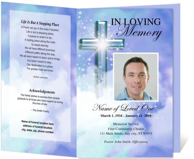 Free Printable Funeral Prayer Card Template FREE DOWNLOAD - Free printable funeral prayer card template