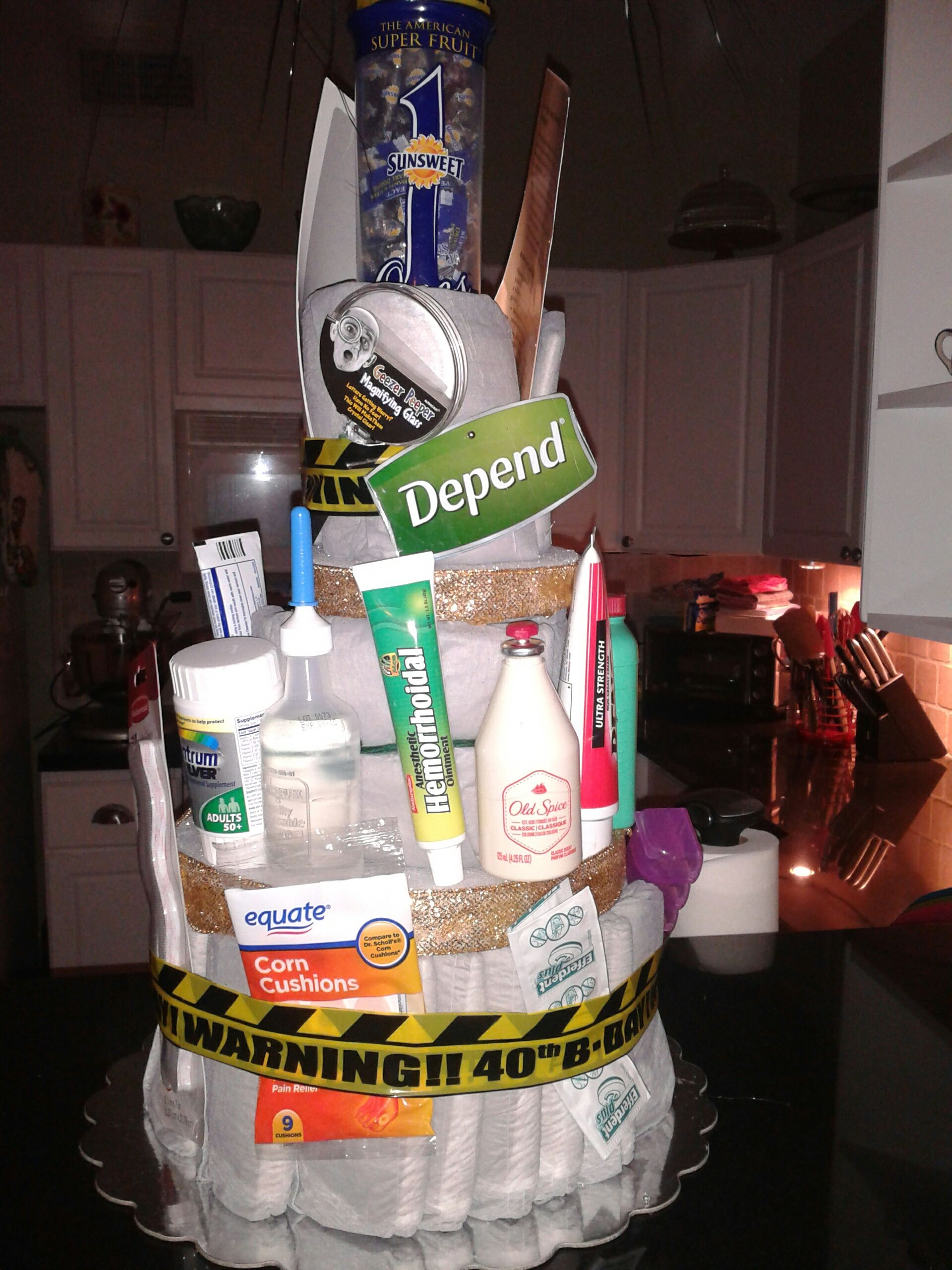 Depends Cake Gag gift, 40th birthday, but will also work