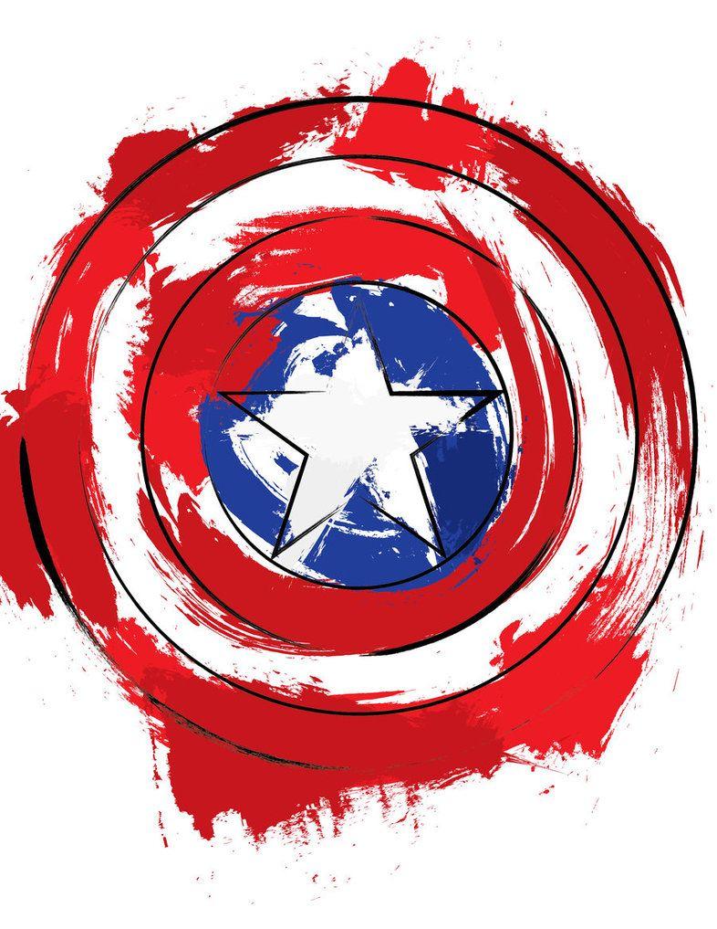 Captain America Shield Splatter by EdwardKillum Marvel