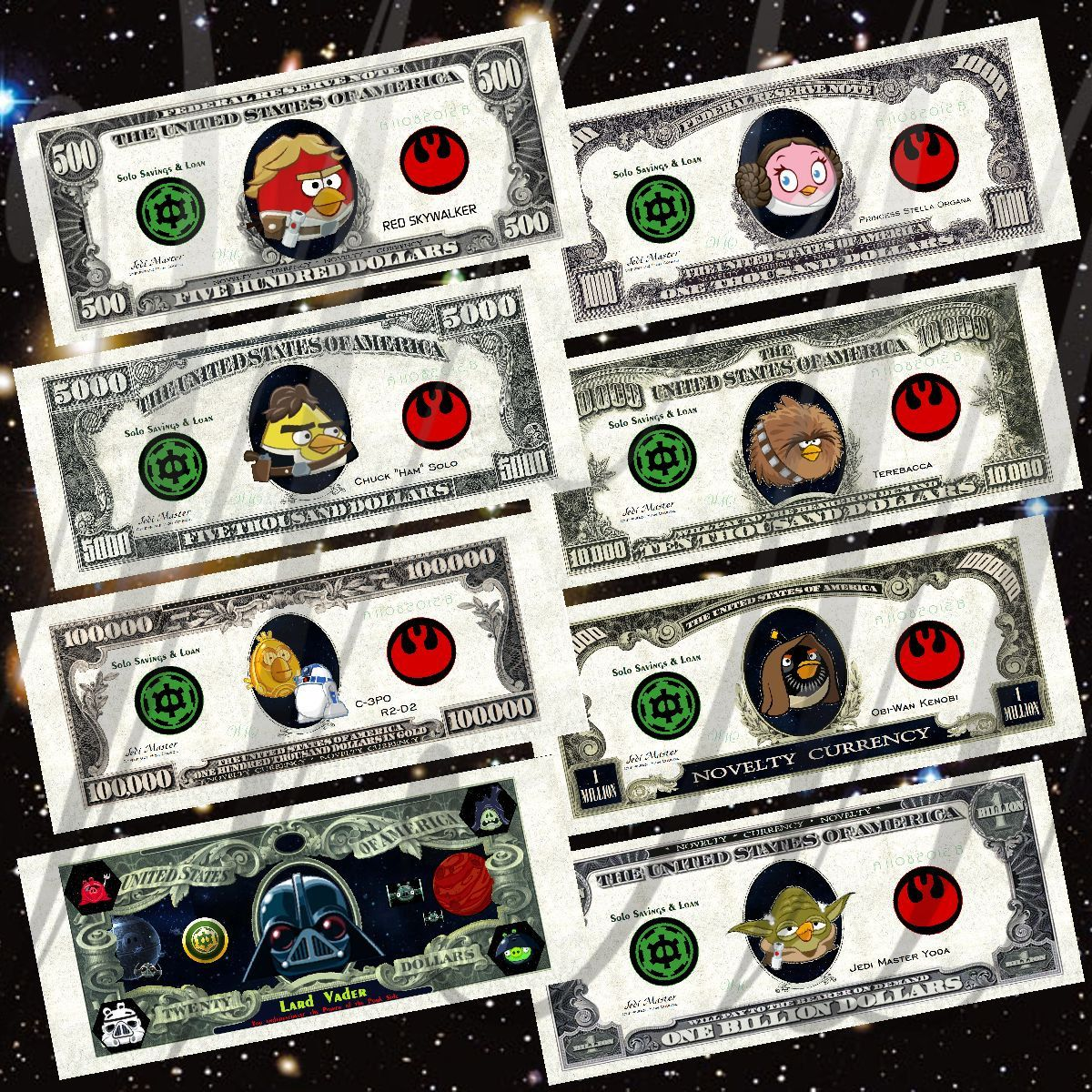 Paper Printable Play Money Angry Birds Star Wars Fan Art