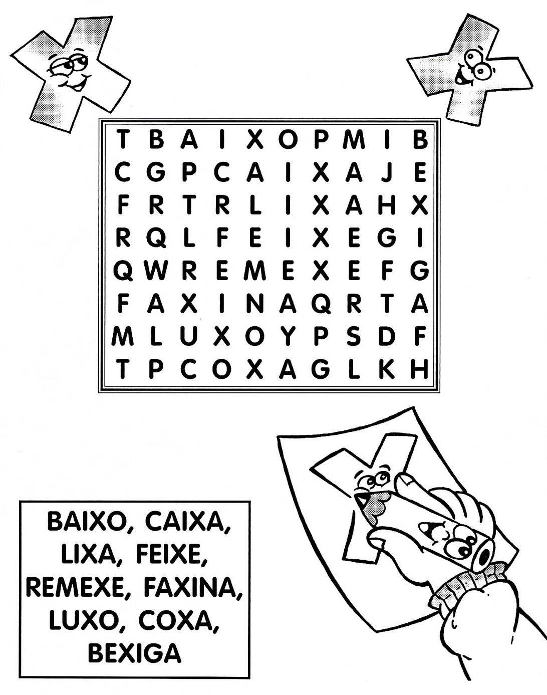 Resultado De Imagem Para Atividades Com A Letra X