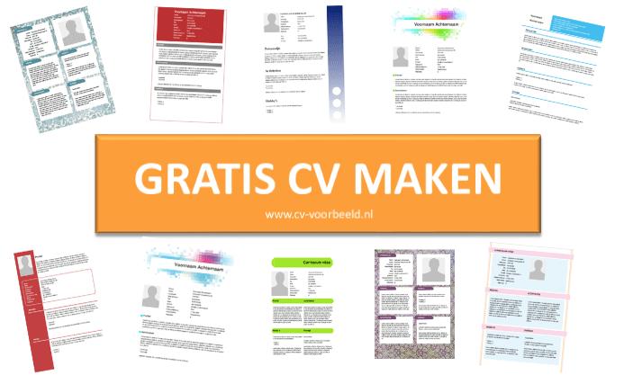 Maak een gratis CV op www.cvvoorbeeld.nl