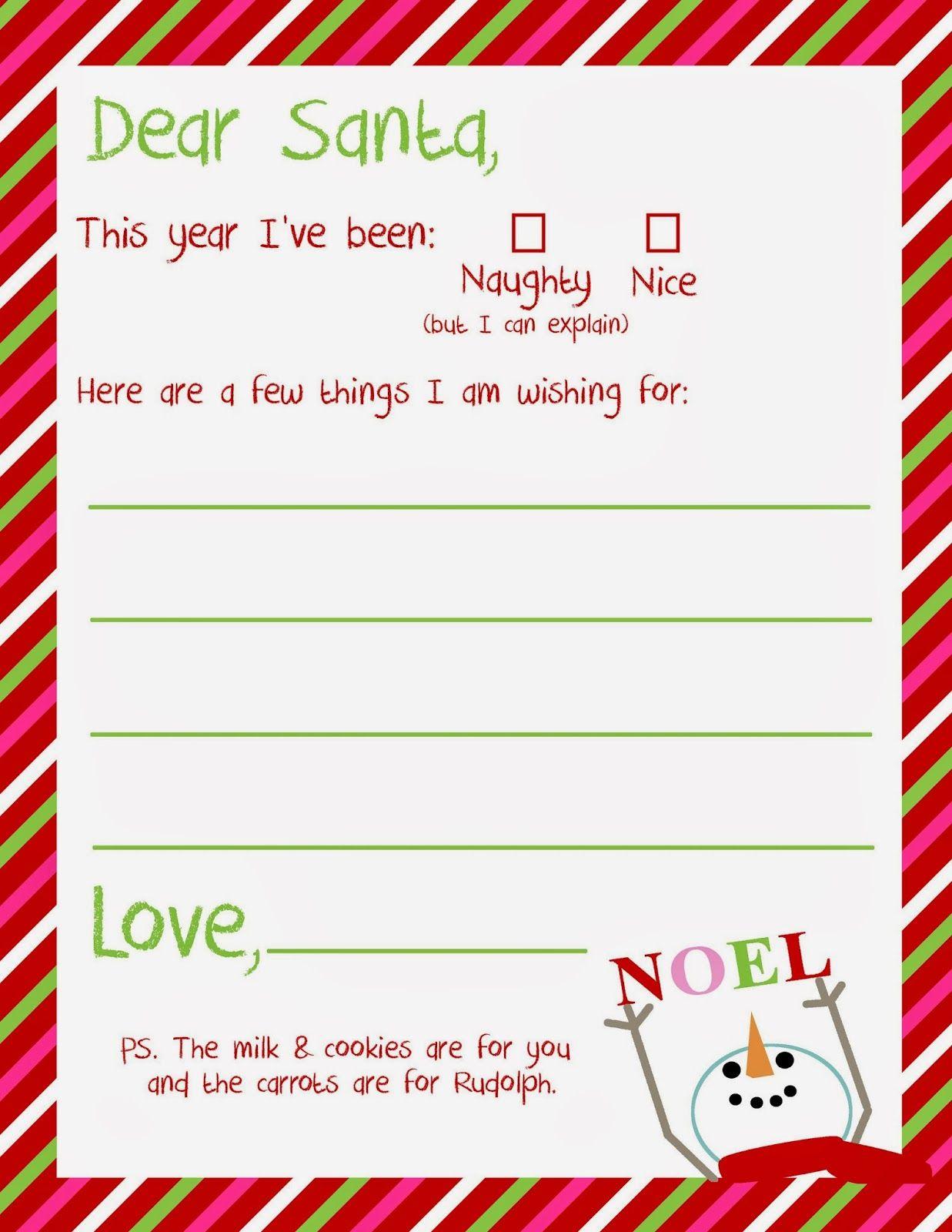 Dear Santa Letter Printable Santa letter printable, Dear