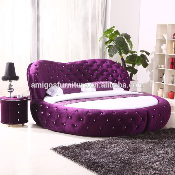 King Size Leather Bed With Automatic Tv Lift Frame On