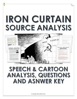 Cold War Iron Curtain Sch And Cartoon Analysis With Teacher Key This